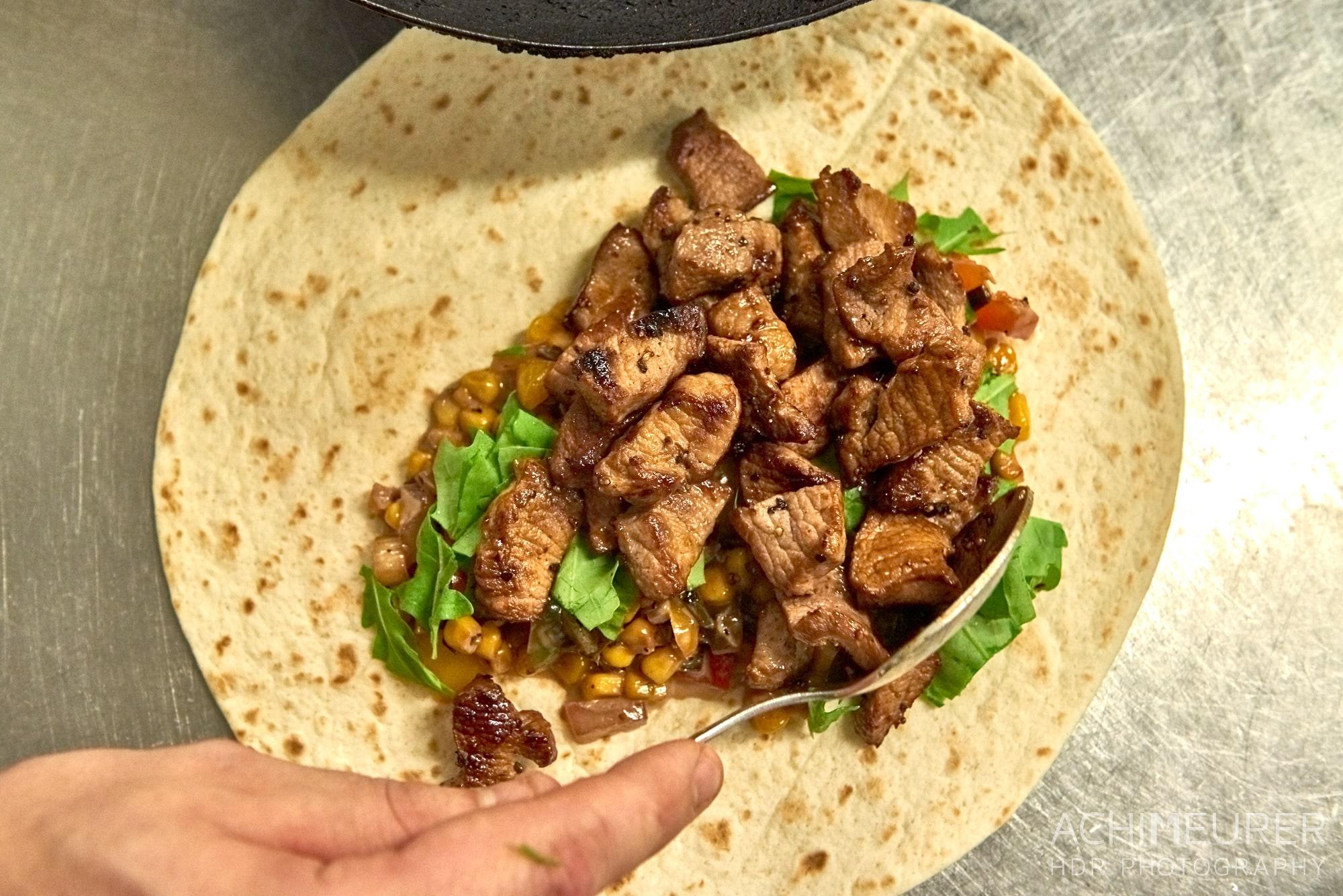 WIldschwein-Wrap in der Gaststätte Reitling #nhavo
