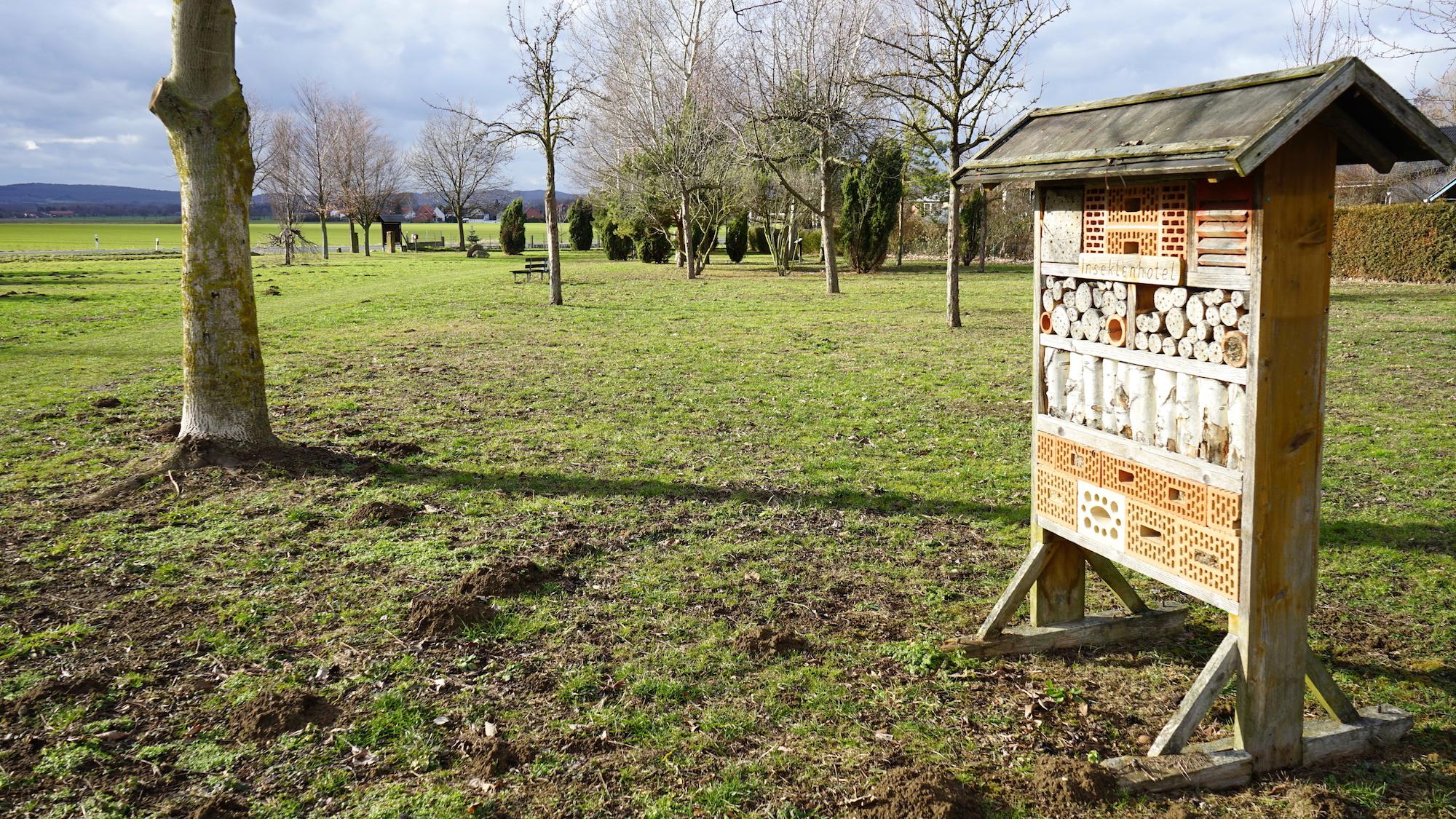 Insektenhotel im Schulwald Cramme / Beate Ziehres